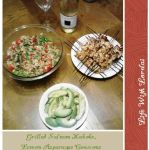 Grilled Salmon Kabobs & Lemon Asparagus Couscous Salad With Tomatoes