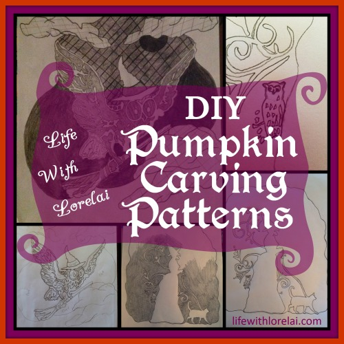 DIY Pumpkin Carving Patterns - lifewithlorelai.com