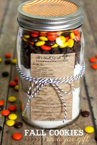 Mason Jar Fall Cookies Free Printable Recipe Tags | Life With Lorelai - lifewithlorelai.com