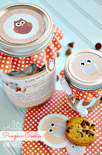 Mason Jar Pumpkin Cookies Free Printable | Life With Lorelai - lifewithlorelai.com