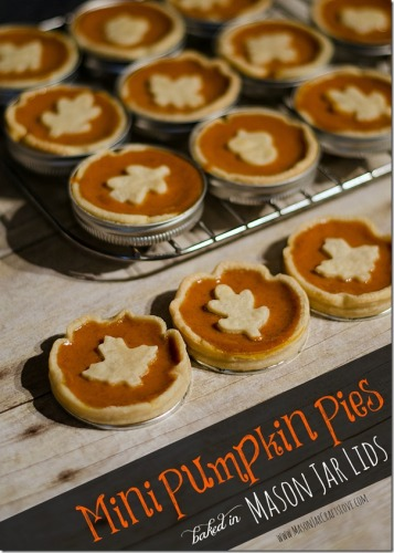 Mini Pumpkin Pies Baked in Mason Jar Lids | Life With Lorelai - lifewithlorelai.com