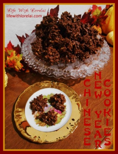 Chinese New Year Cookies or Haystacks Recipe - A quick and easy cookie with a yummy crunch.