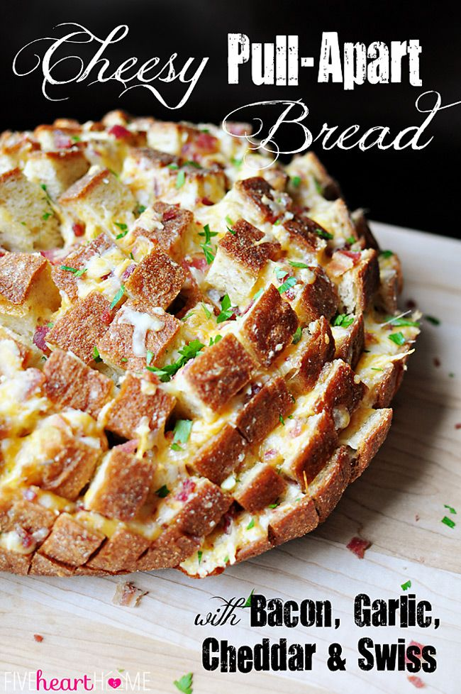 Cheesy Pull-Apart Bread - five heart home