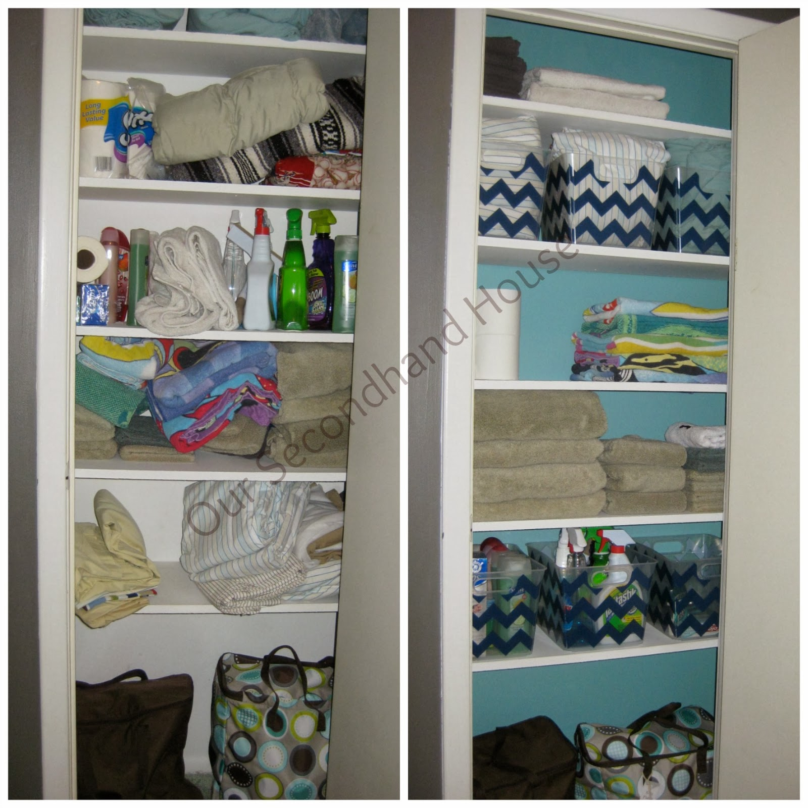 Linen Closet Organization - Our Secondhand House