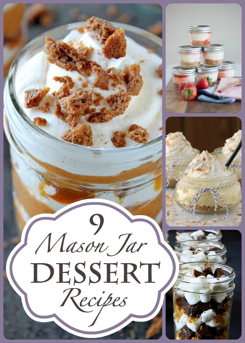 9 Mason Jar Dessert Recipes - Featured at HMLP 23Jan2015