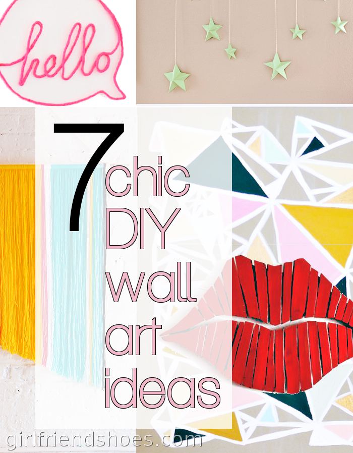 7 Chic DIY Wall Art Ideas - HMLP Feature