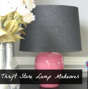 thrift store lamp makeover gallery Bonnie 01-16-15