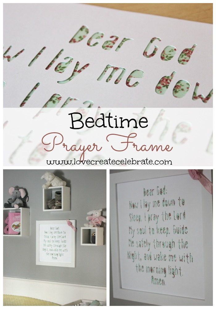 Bedtime Prayer Frame - HMLP Feature