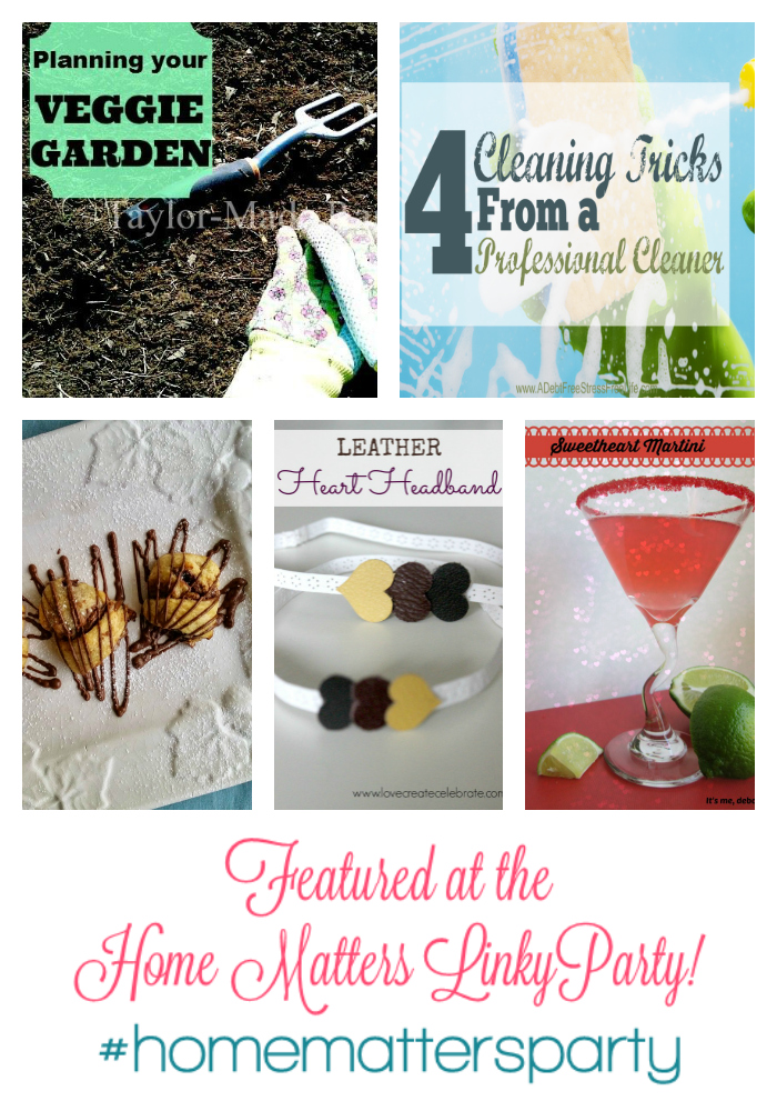 Home Matters Linky Party Features 2015-FEB-12