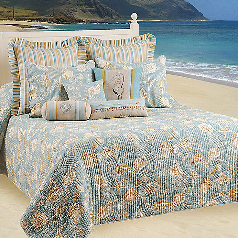 Natural Shells Bedspread - Bed Bath and Beyond