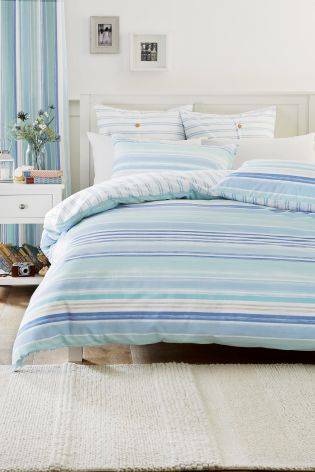 Teal Stripe Quilt Set - Next