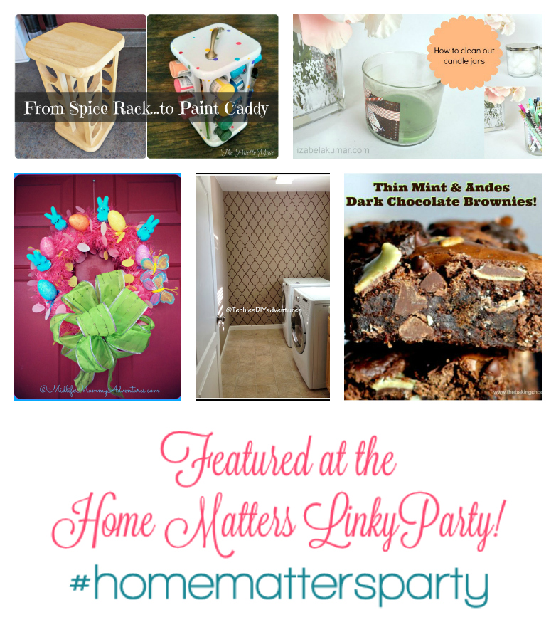 Home Matters Linky Party Features 2015-MAR-06