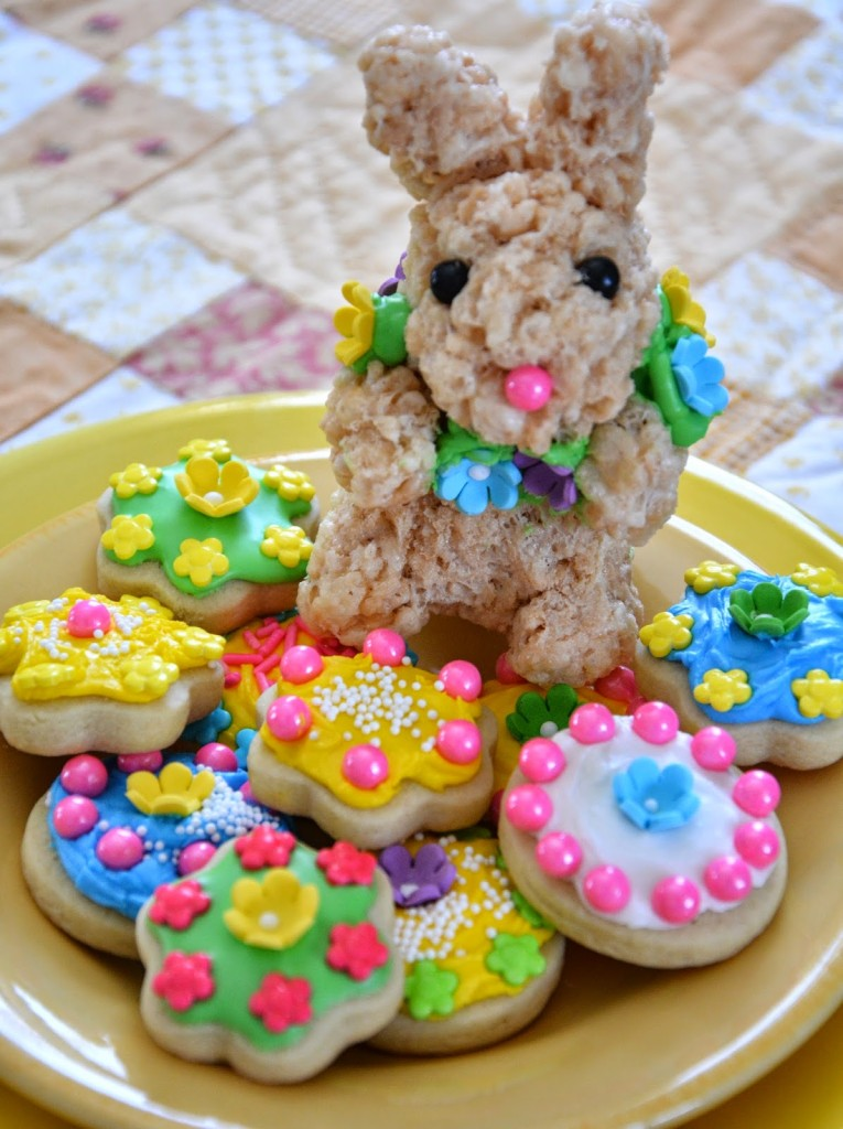 Rice Krispie Bunny and Button Cookies - HMLP Feature 2015-MAR-27