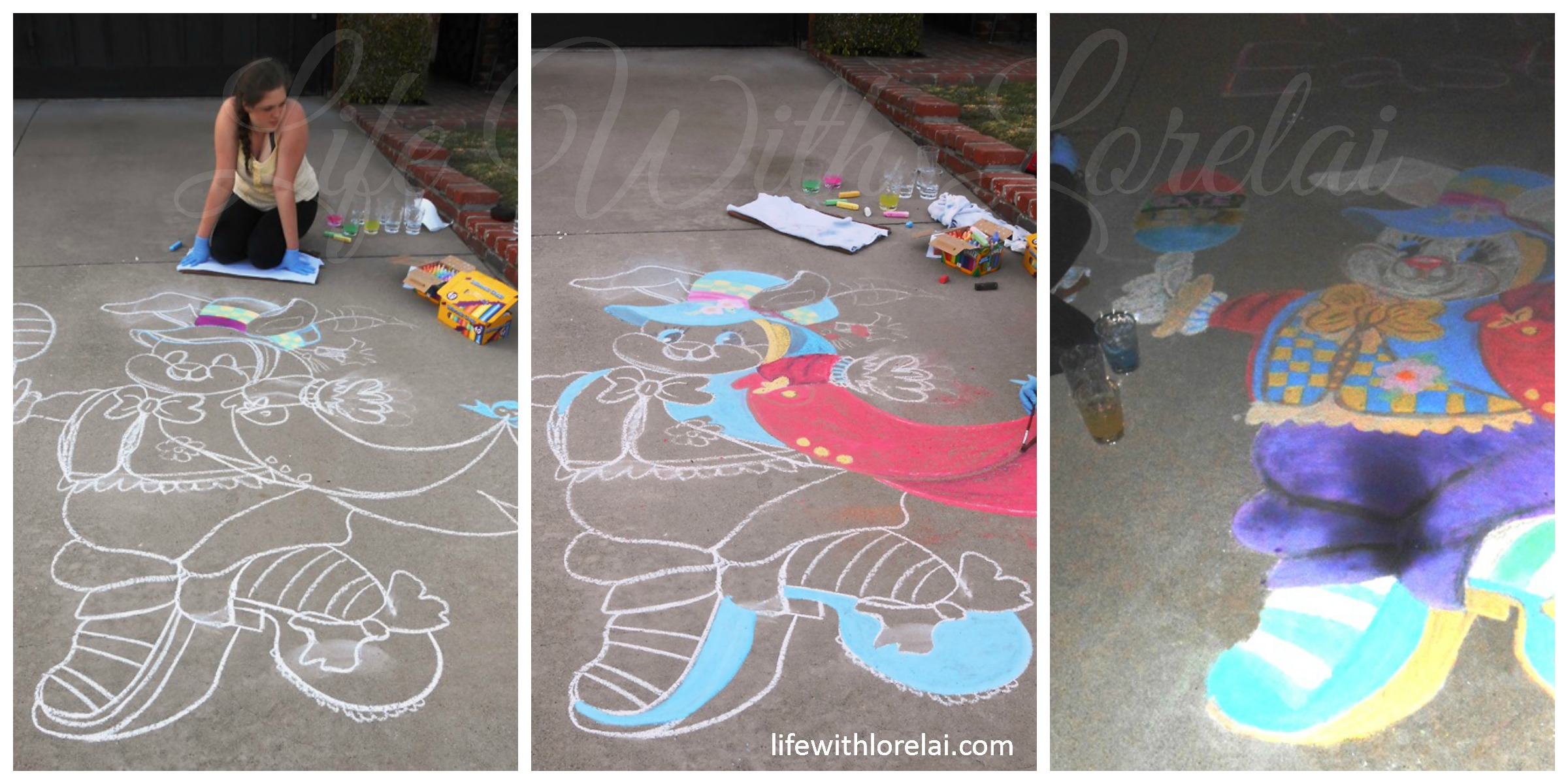 Sidewalk Chalk Art - Drawing and Coloring