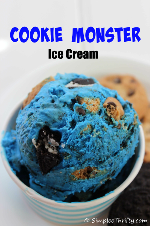 Cookie monster ice cream no churn from heidi simplee thrifty