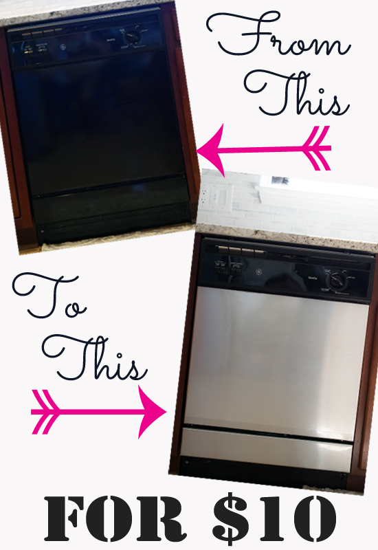 Covering a Dishwasher with Contact Paper - HMLP Feature