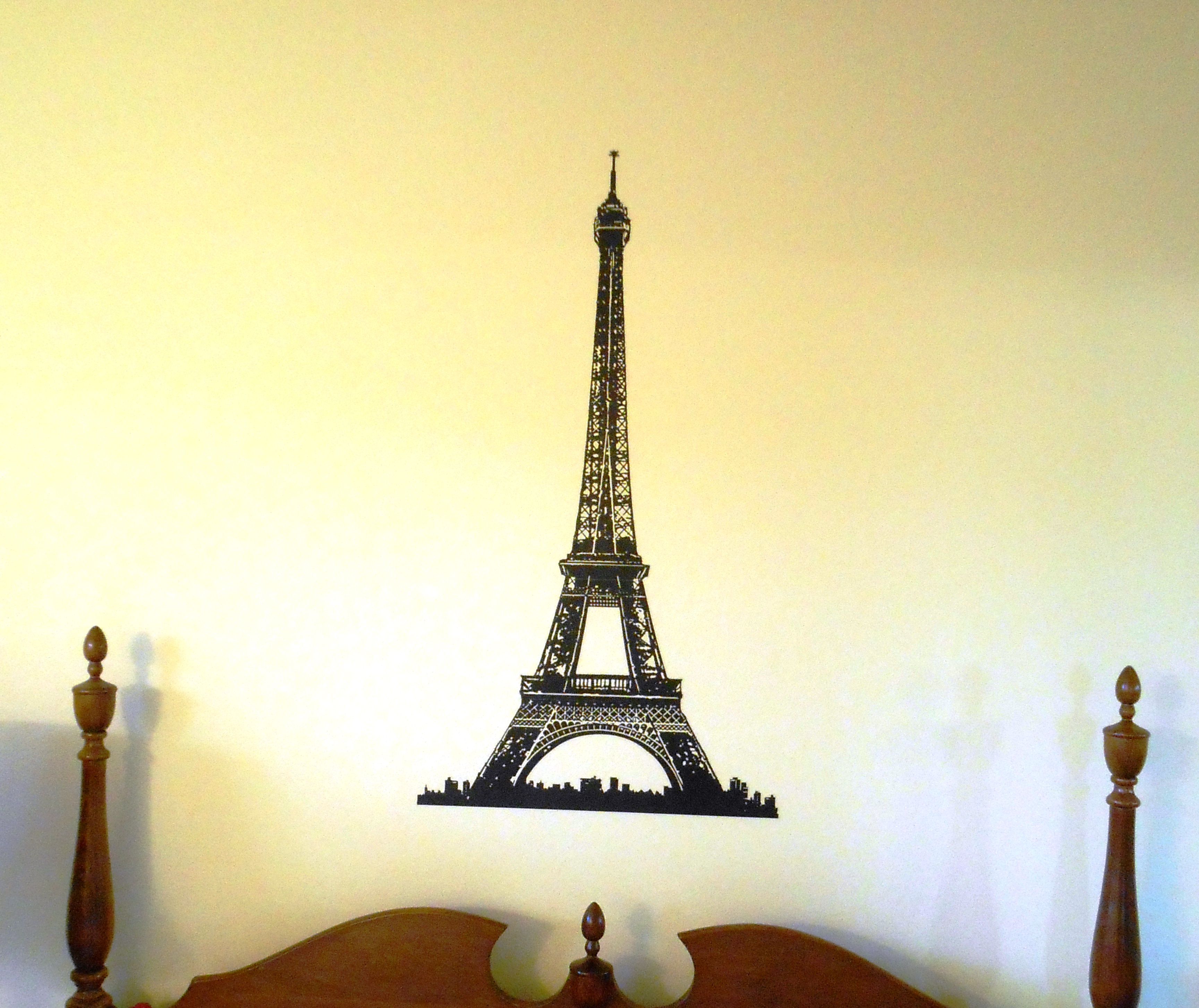 Completed Eiffel Tower Vinyl Wall Art