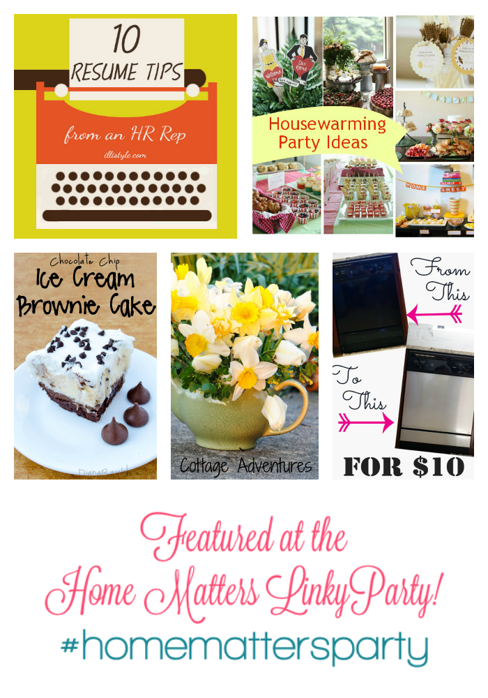 Home Matters Linky Party #37 Features
