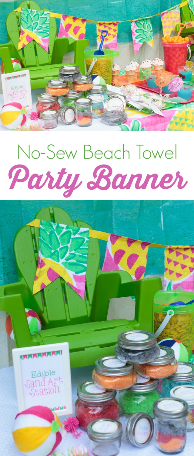 No-Sew Beach Towel Party Bannerr - HMLP 39 Feature
