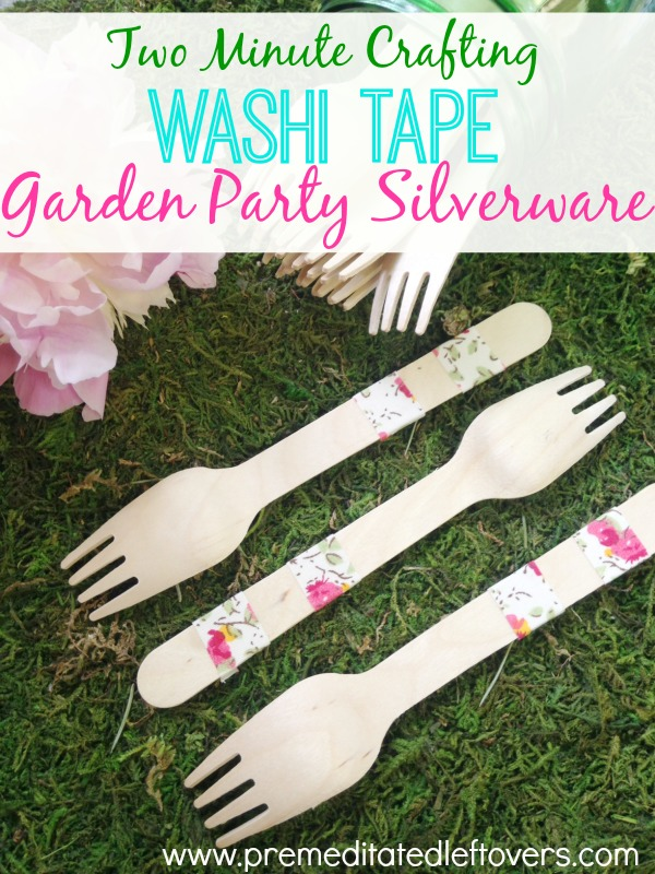 Washi Tape - Garden Party Silverware - Feature HMLP 43
