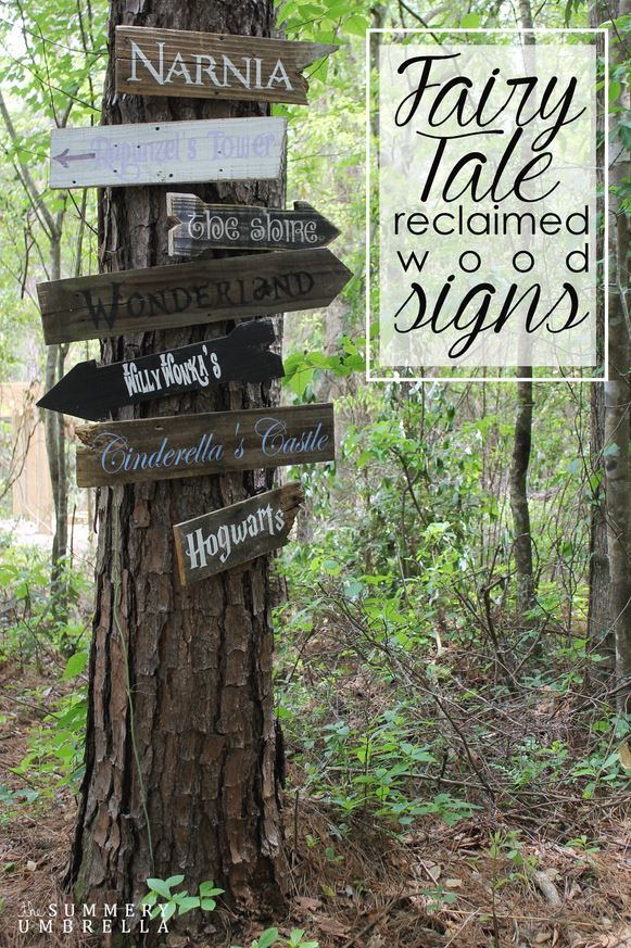 Fairy Tale Reclaimed Wood Signs - HMLP 48 Feature