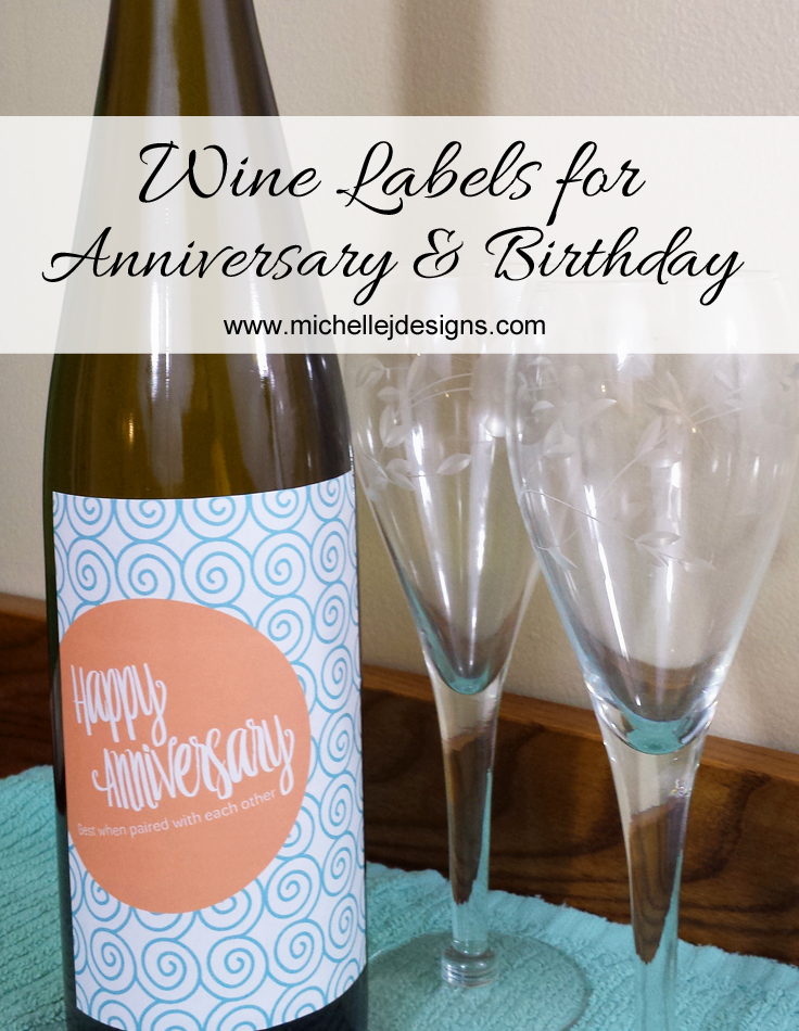 Wine Labels for Anniversary and Birthday - HMLP 48 Feature