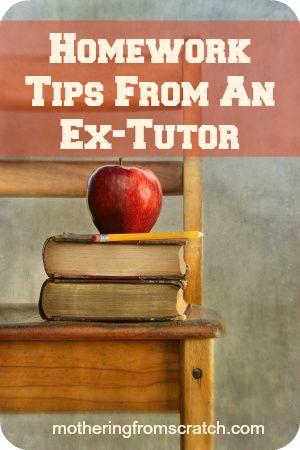 Homework Tips From An Ex-Tutor