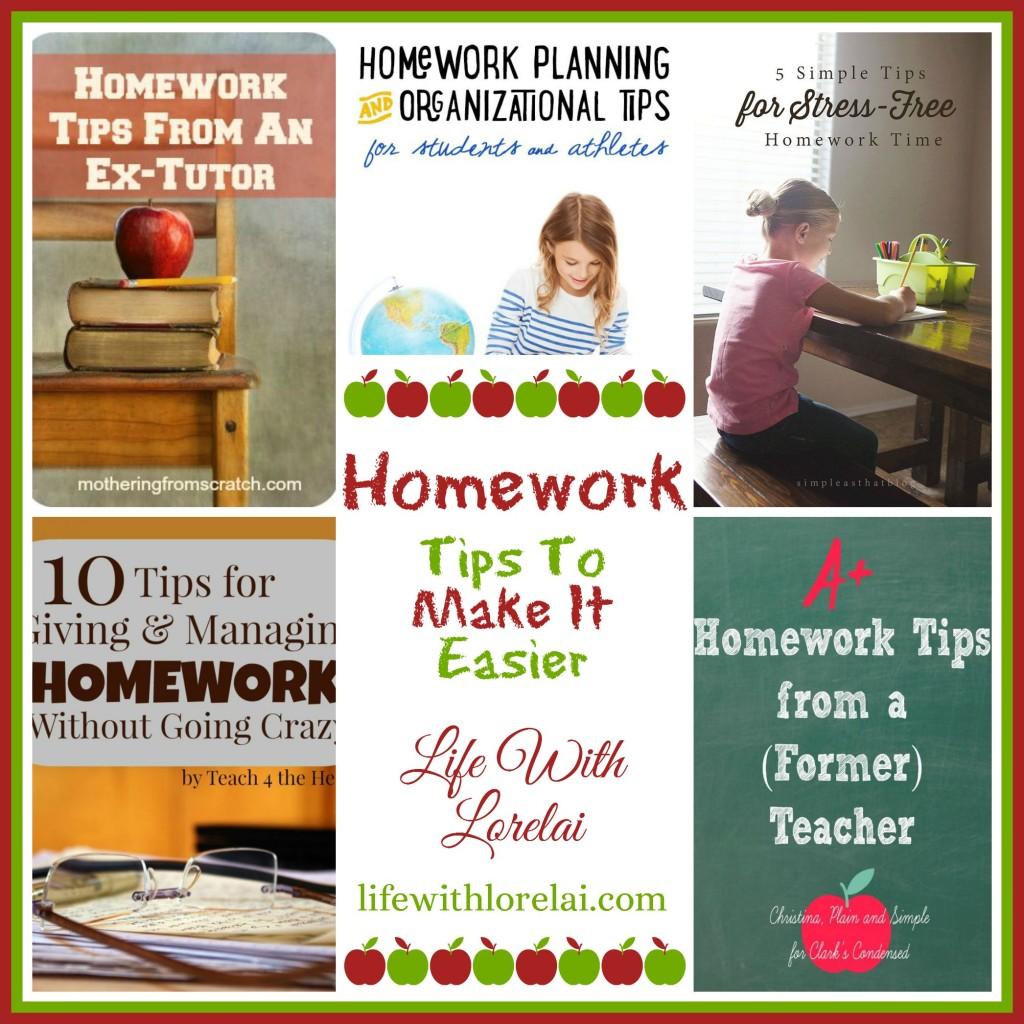 Homework - Tips To Make It Easier - Life With Lorelai