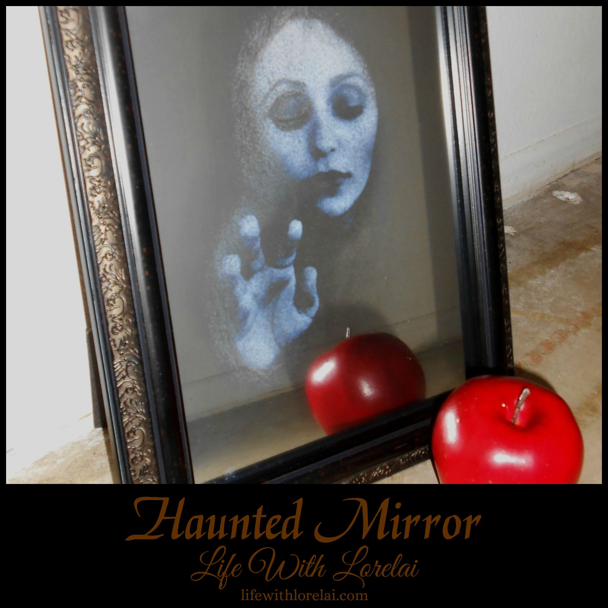 Make your own spooky Halloween decor with this DIY Haunted Mirror.
