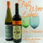 Fall Wine Labels & Free Printables