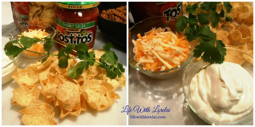 MIni Taco Sccops - Ingredient collage