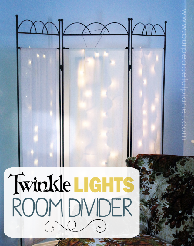 Twinkle Lights Room Divider- Our Peaceful Planet -HMLP 69