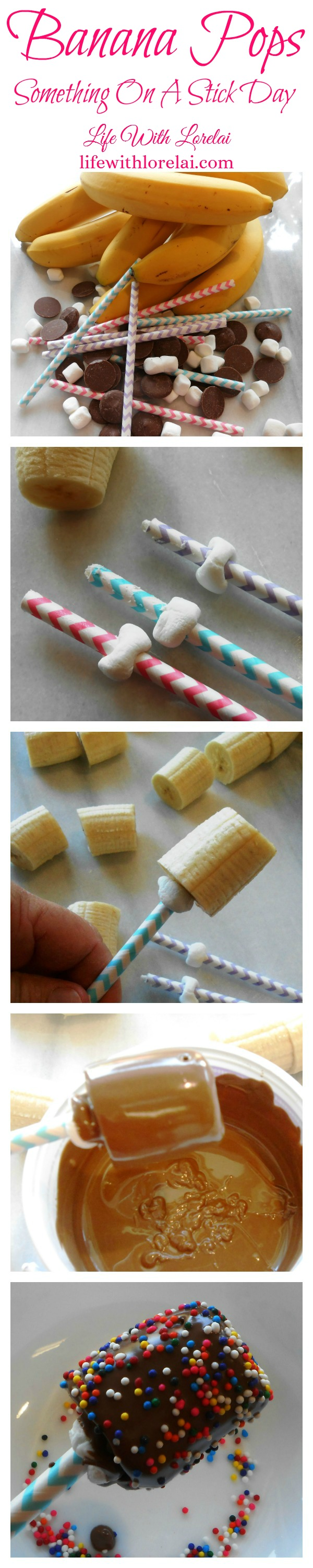 Banana Pops vertical step-by-step - Something On A Stick Day