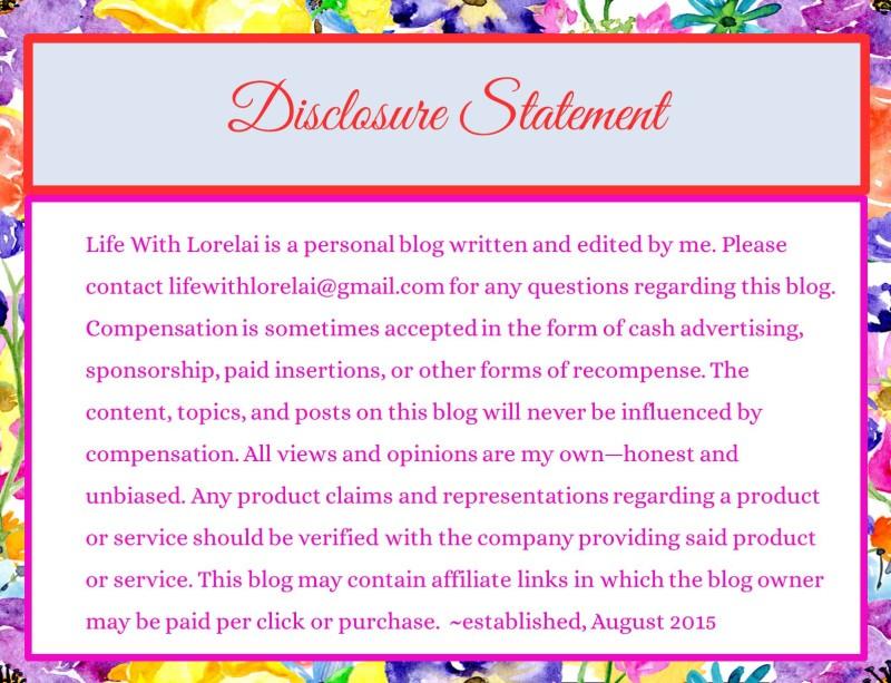 Disclosure Statement - Spring 2016