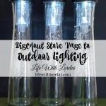 DIY Outdoor Lighting From Discount Store Vases