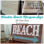 DIY Wooden Beach Marquee Sign