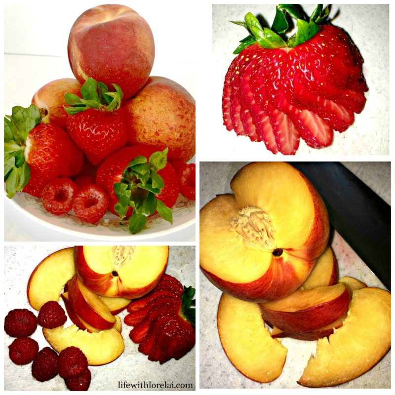 Fruit-Collage-Peach-Strawberry-Raspberry-Life With Lorleai