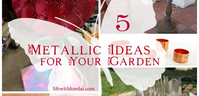 Check out these 5 Metallic DIY Ideas that are perfect for Your Garden! Easy DIY projects that add a little bling to your garden decor.