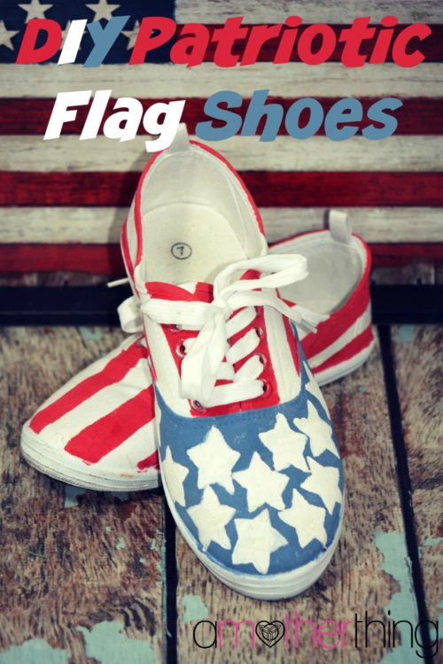 DIY USA Patriotic Flag Shoes - It's a Mother Thing - HMLP 92 - Feature