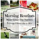 Morning Routines Make Great Day Starters