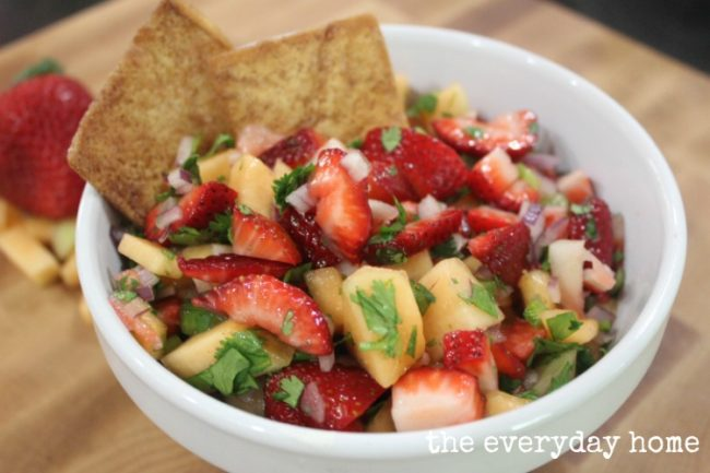 Strawberry Cantaloupe Salsa - The Everyday Home - HMLP 91 - Feature