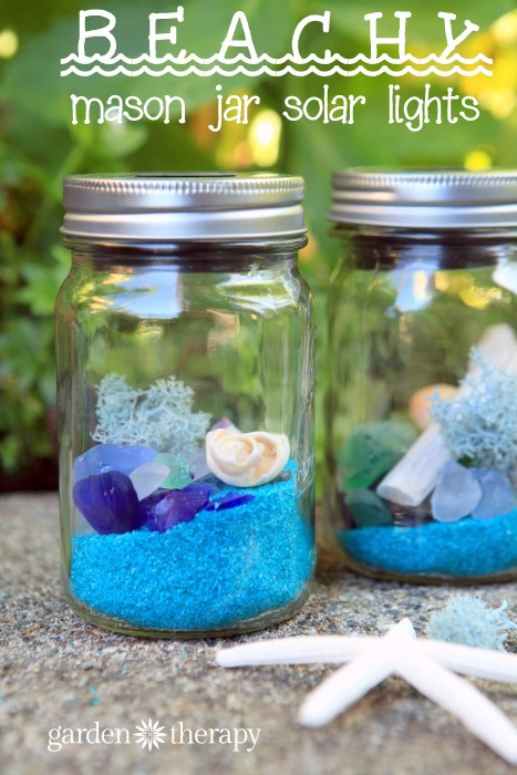 Beach Glass Solar Lights - Garden Therapy - HMLP 94 - Feature