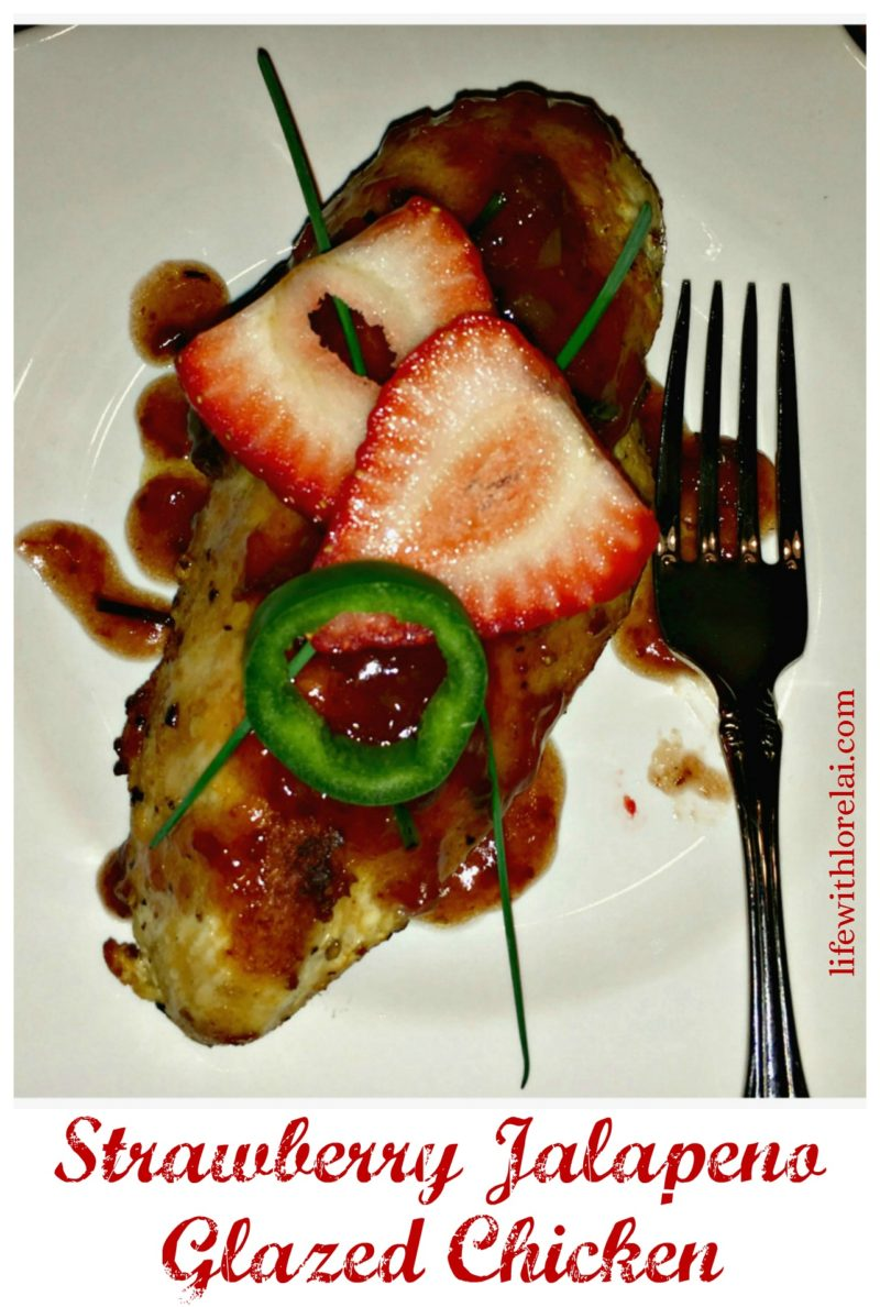 Strawberry Jalapeño Glazed Chicken Recipe - A delicious way to add a little kick to your everday chicken!