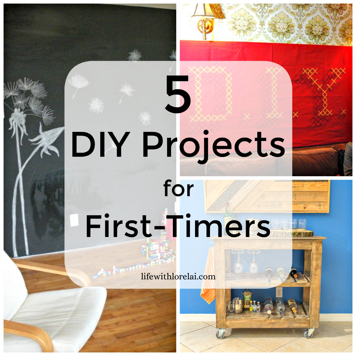 5 DIY Projects For First-Timers - DIY projects are fun & rewarding. Check out these ideas for beginners. #DIY #Projects #BeCreative #Crafters #DoItYourself