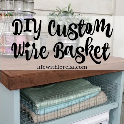 DIY Custom Wire Basket - Learn to make your own custom sized wire baskets. A great DIY for organization and decor.