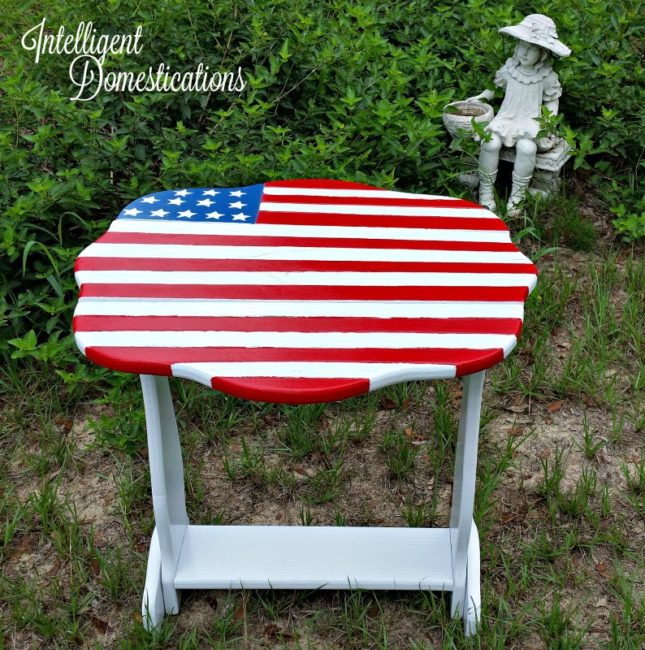 New Paint Saves An Old Porch Table - Intelligent Domestications - HMLP 101 - Feature