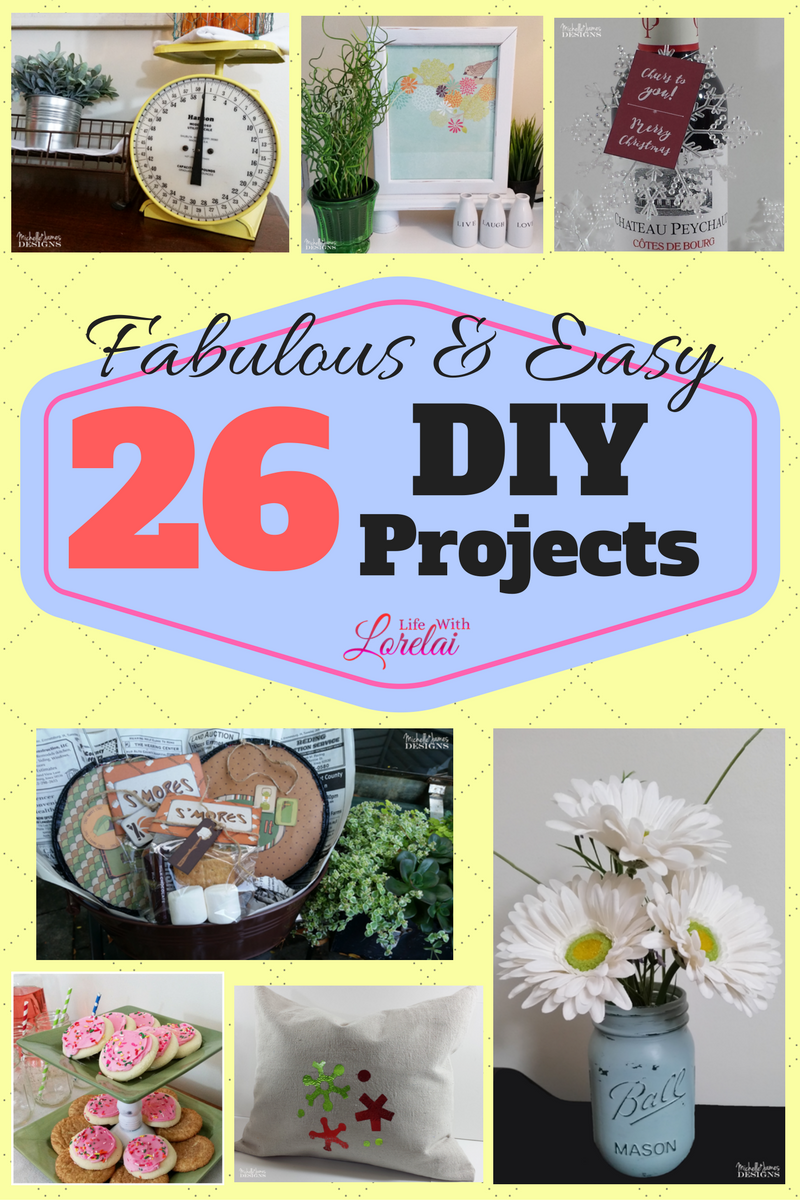 A year's worth of fabulous and easy DIY projects for your home. Check out this round up of 26 creative ideas for decor, entertaining, organizing, and more.