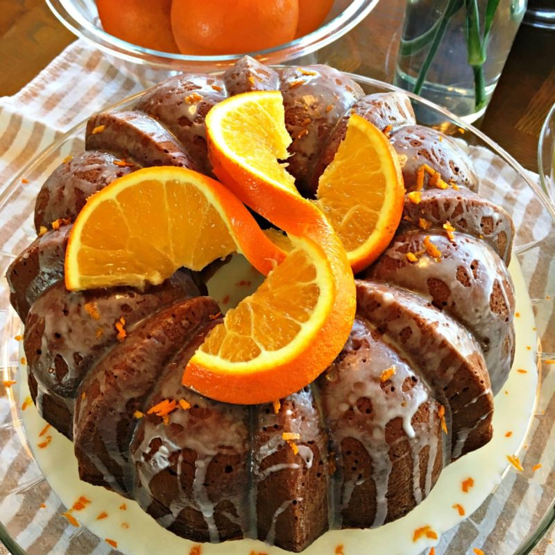 Impress your family and friends with this delicious bundt cake made with fresh oranges. Try this recipe, you'll love it.