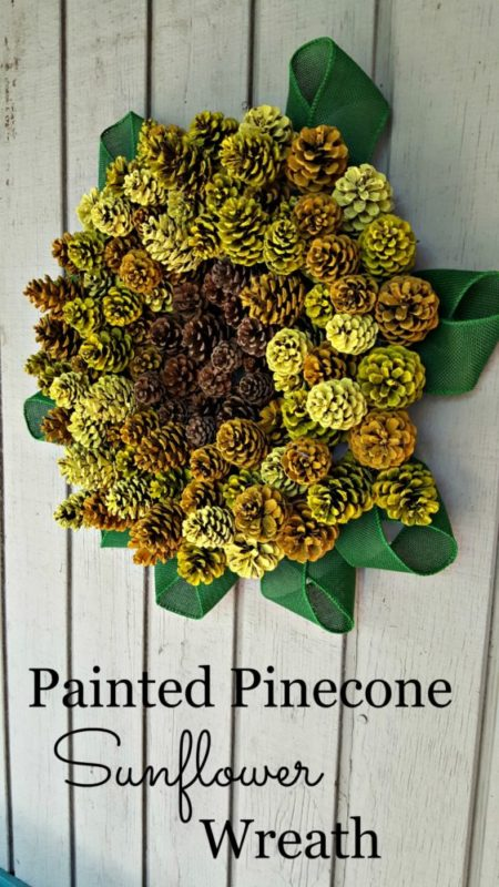 Painted Pinecone Sunflower Wreath - Modern on Monticello - HMLP 105 - Feature
