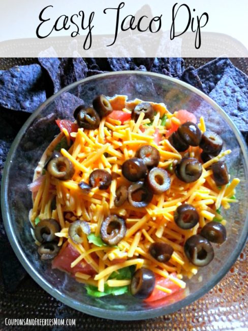 Easy Taco Dip - Coupons and Freebies Mom - HMLP 109 Feature
